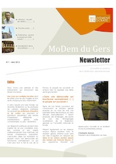 Newsletter du MoDem N°1 - 5 Mai 2013 p1 mini